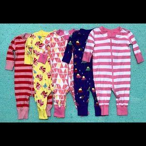 Hanna Andersson Sleeper Pajamas Lot